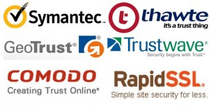 Symantec, VeriSign, Thawte, geotrust, Trustwave, comodo, rapidssl