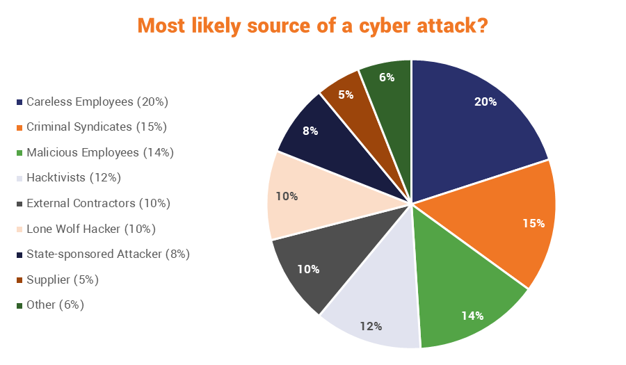 Who is the likeliest perpetrator of a cyber attack?