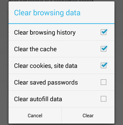 Chrome Clear History