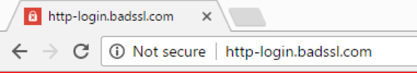 warning about insecure login pages, chrome 56, firefox 51