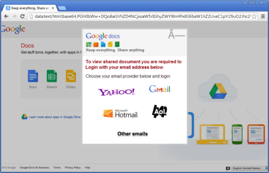 data url phishing