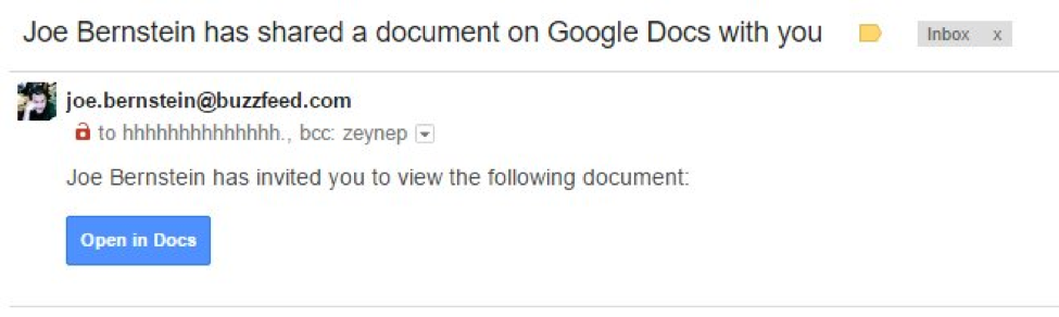 Google Docs OAuth Phishing