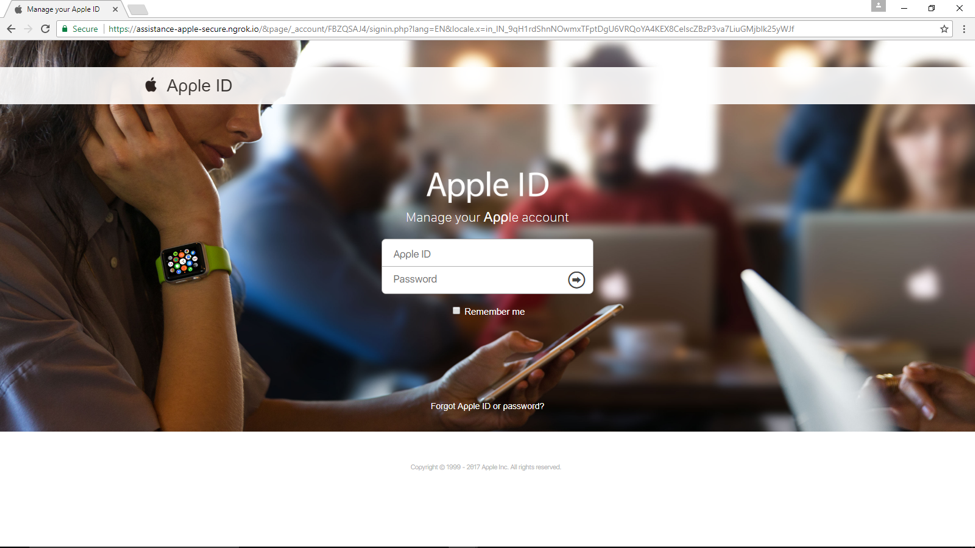 Apple HTTPS Phishing Website