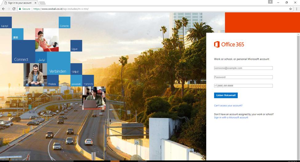 Microsoft Login HTTPS Phishing Website