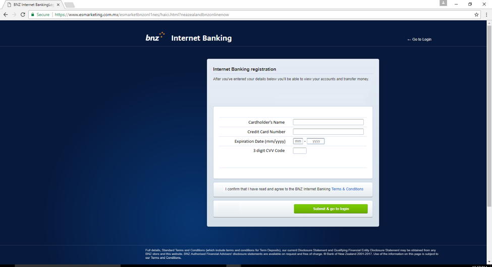 BNZ Login HTTPS Phishing Website