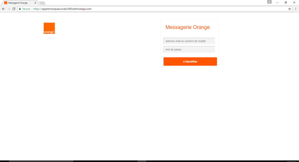 Orange Login HTTPS Phishing Website