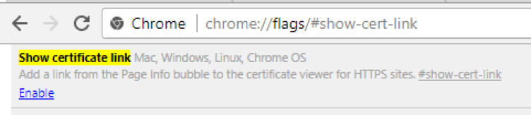 Certificate Viewer: Enabling Certificate Details on Chrome 60
