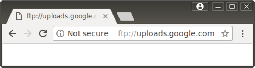 "Google Chromec 63 FTP ""Not Secure"" warning"