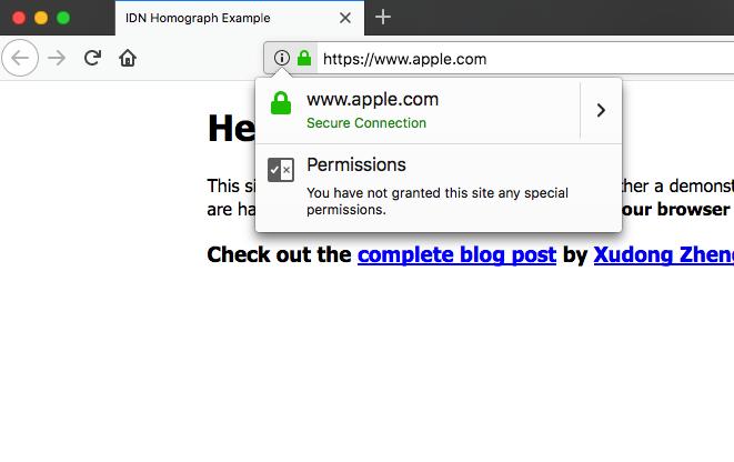 unicode domain phishing