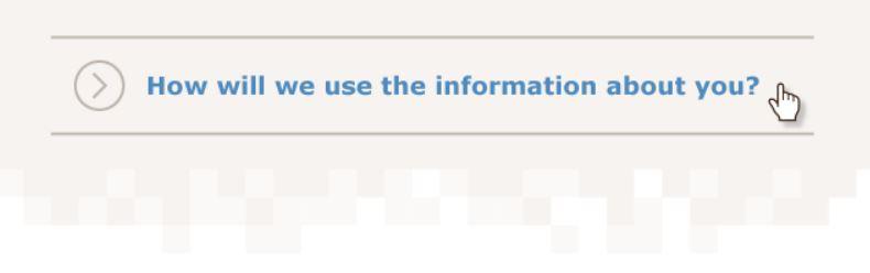 GDPR privact notice examples