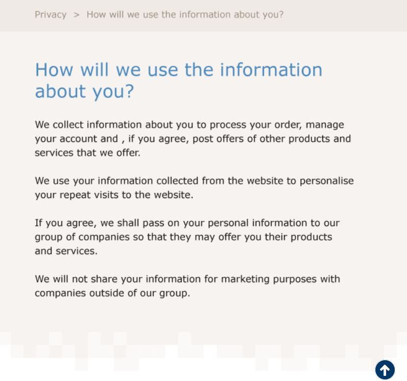 GDPR privacy notice examples