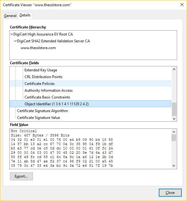 Firefox Certificate Transparency