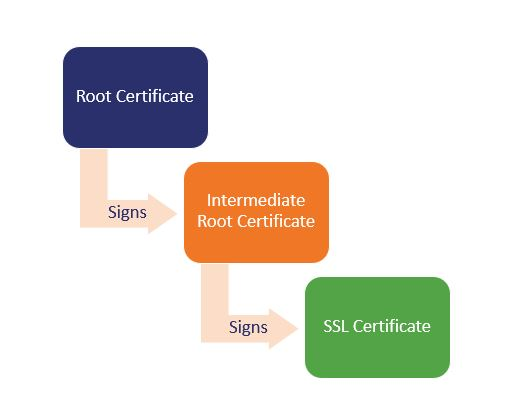 difference between root and intermediate certificate