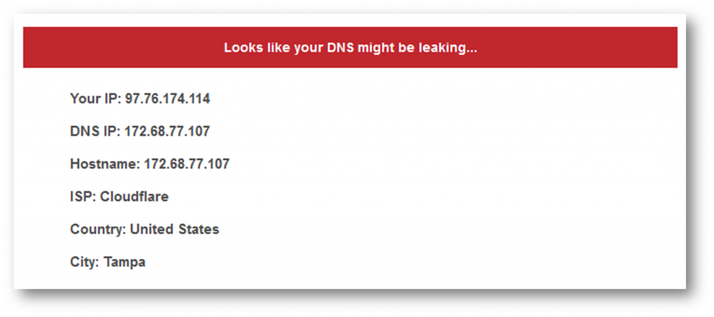 You have a DNS leak!