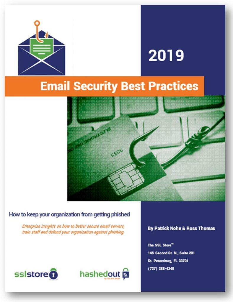 2019 Email Security Best Practices eBook cover