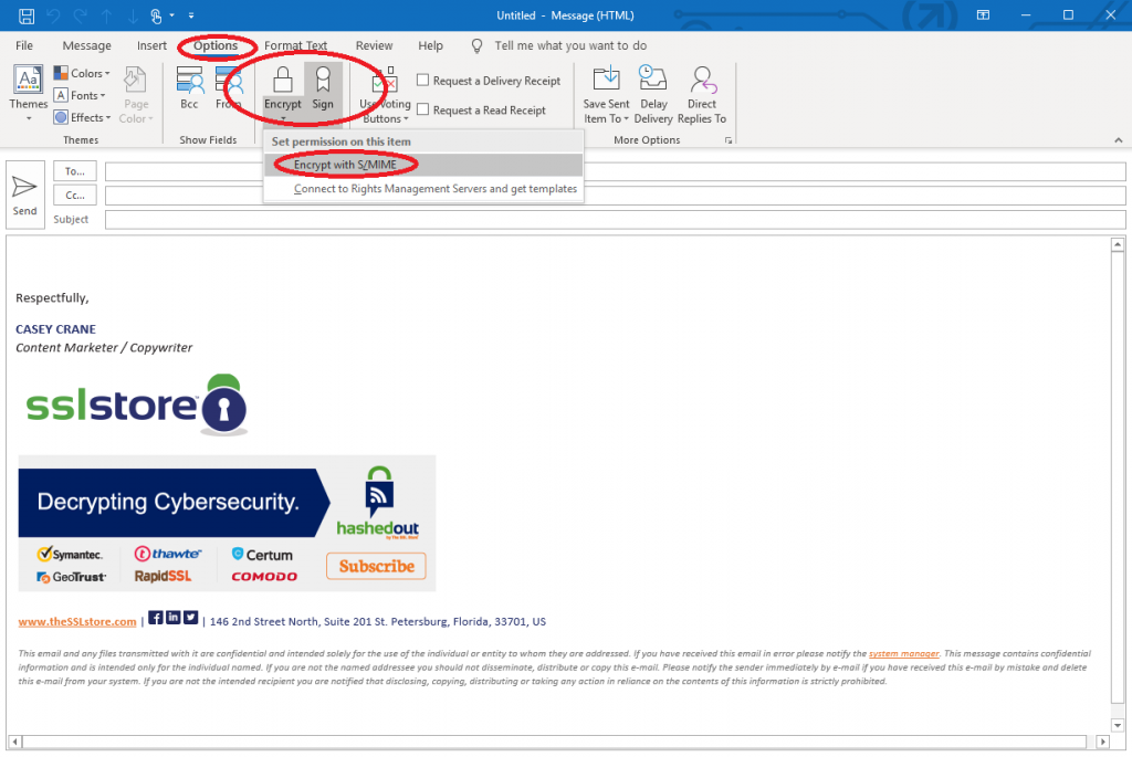 Encrypt Outlook Email >> How To Send Encrypted Email On 3 Major Email Platforms