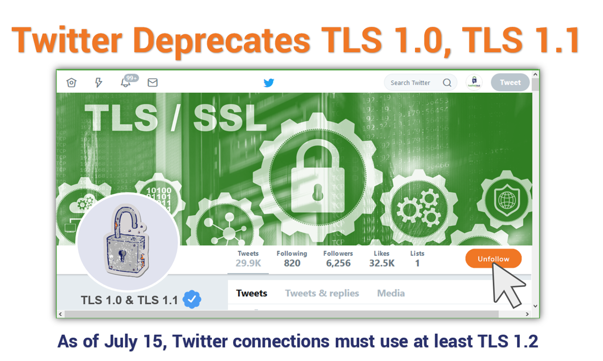 Twitter will deprecate support for TLS 1 0, TLS 1 1 on July