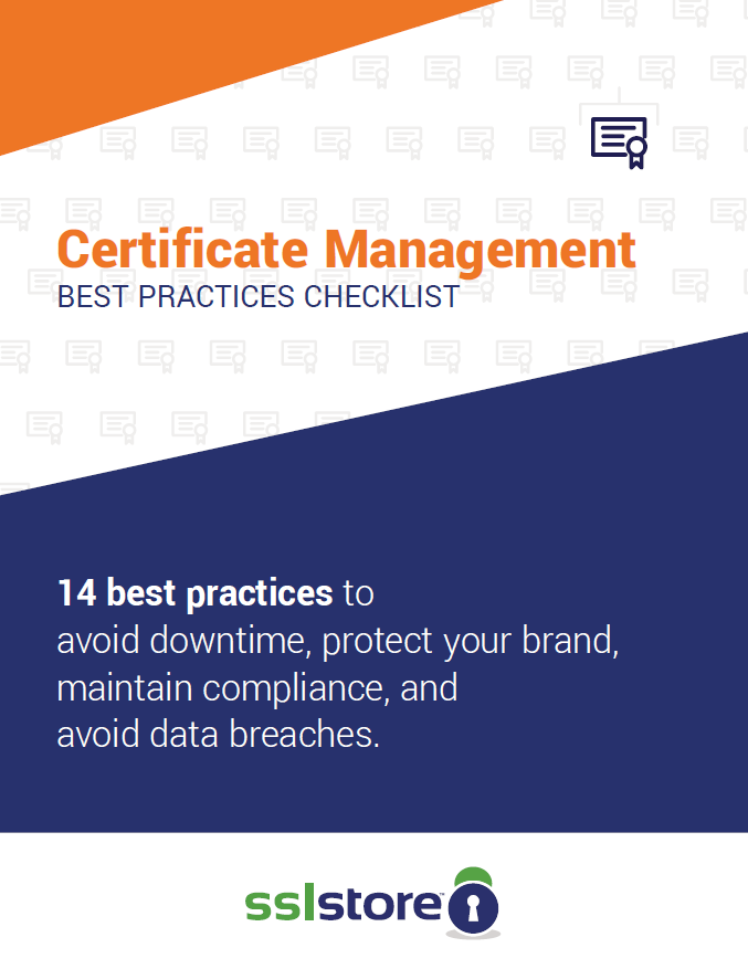 Certificate Management Checklist