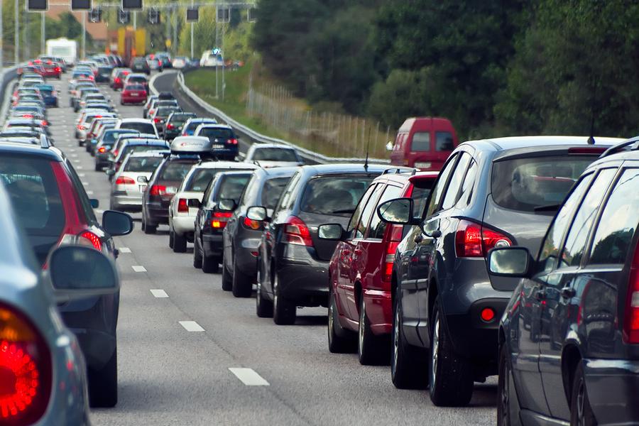DDoS attack traffic jam