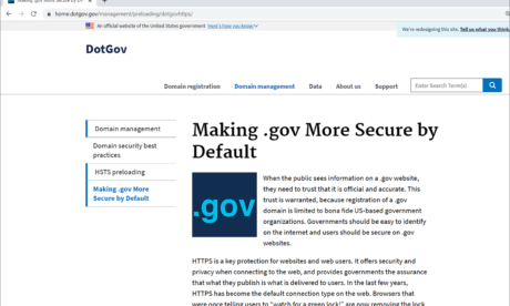 New .Gov Domains to Force HTTPS: HSTS Preloading Will Be Enabled Starting Sept. 1