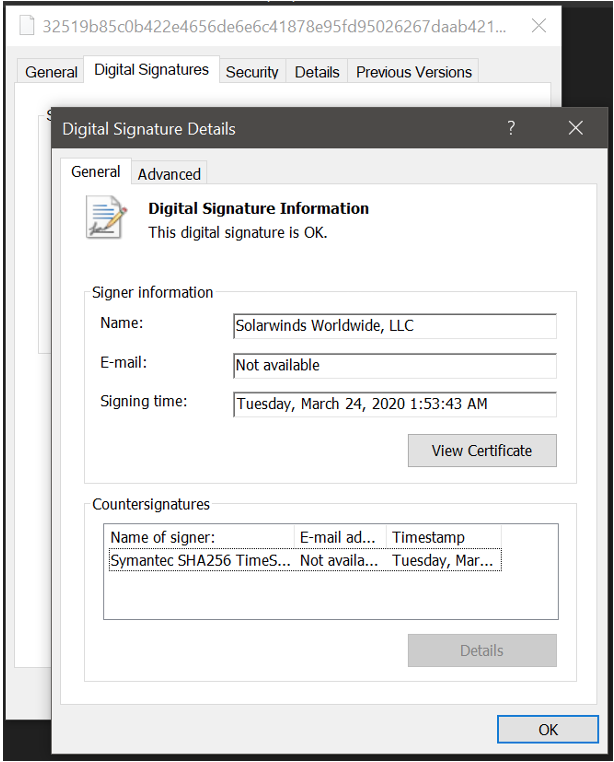 SolarWinds Signed Software Update