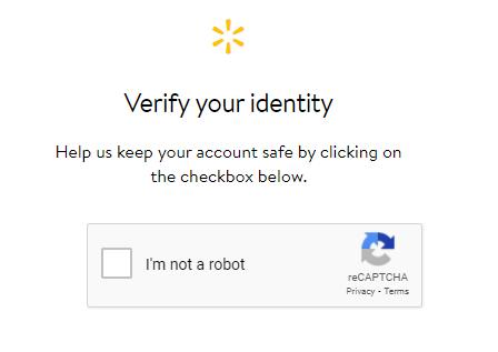 Walmart Anti-Bot Measure