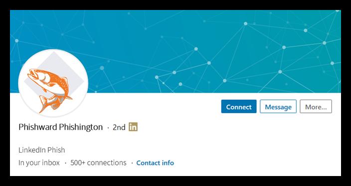 Spear phishing graphic: a fake LinkedIn profile