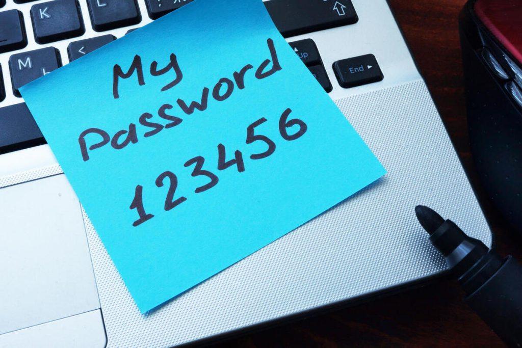 broken authentication bad password
