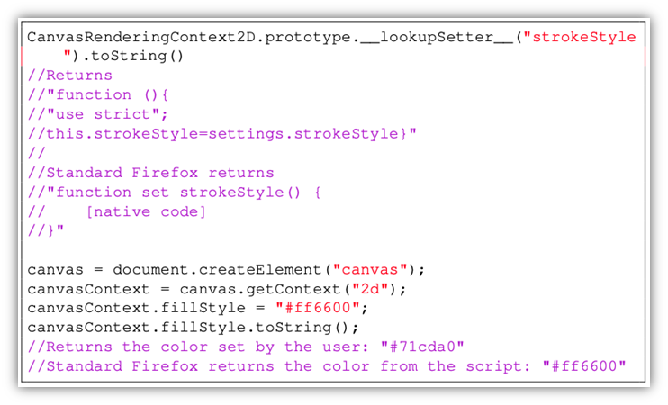 A screenshot of code strings for comparison