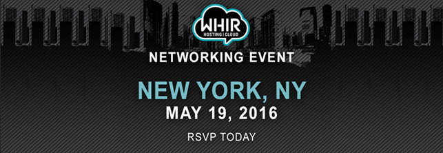 What: WHIR Networking Event | Where: New York, New York | When: May 19th