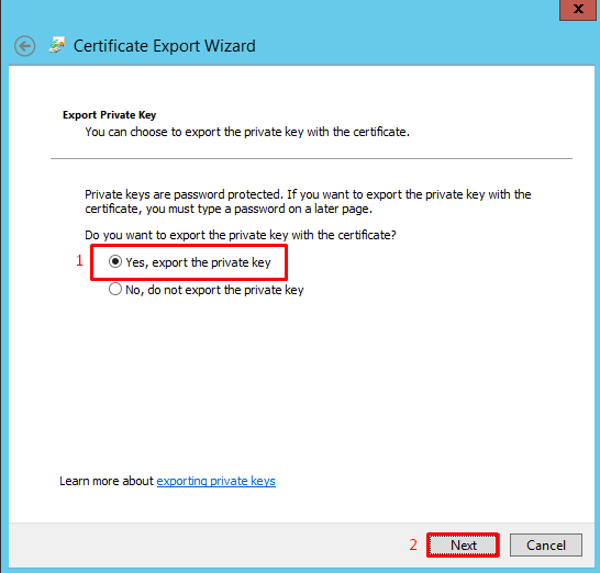 How To Export An SSL Certificate From Microsoft IIS 8