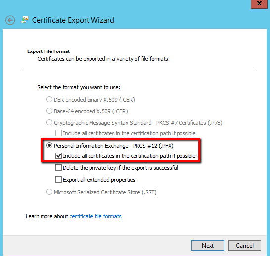 How to Export an SSL Certificate From Microsoft IIS 8 - The