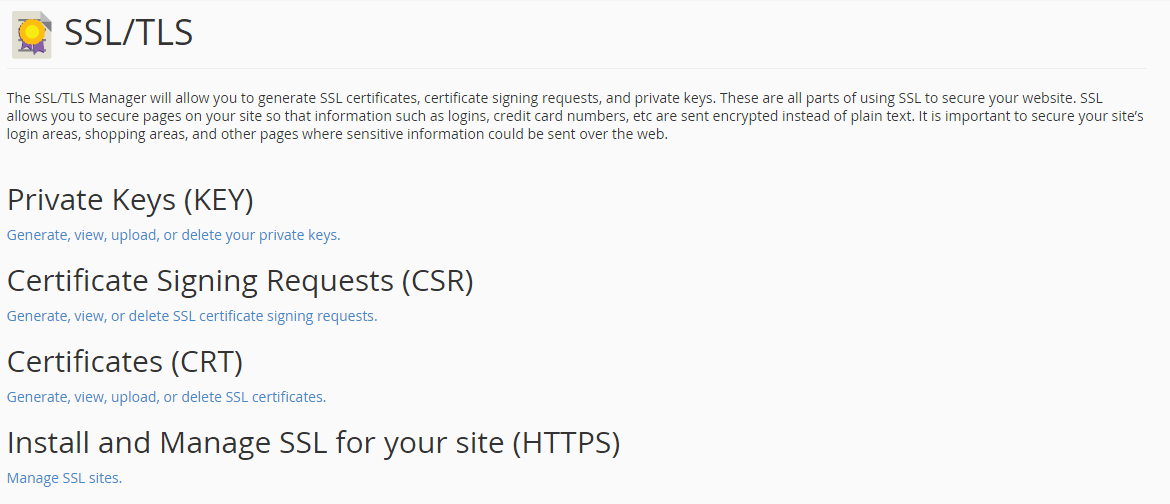 How To Generate A Certificate Signing Request Csr For Cpanel 11x