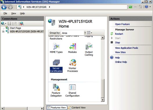 Microsoft IIS 7 Step4