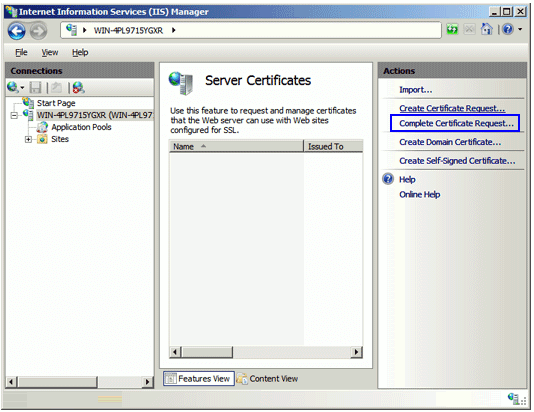 Microsoft IIS 7 Step5