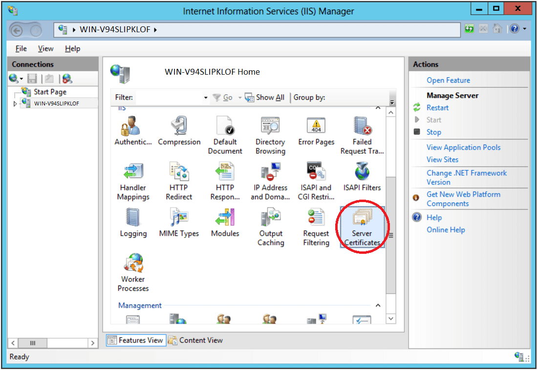 How To Install An Ssltls Certificate In Microsoft Iis 8 The Ssl