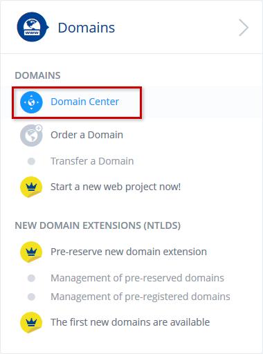 Domain Center