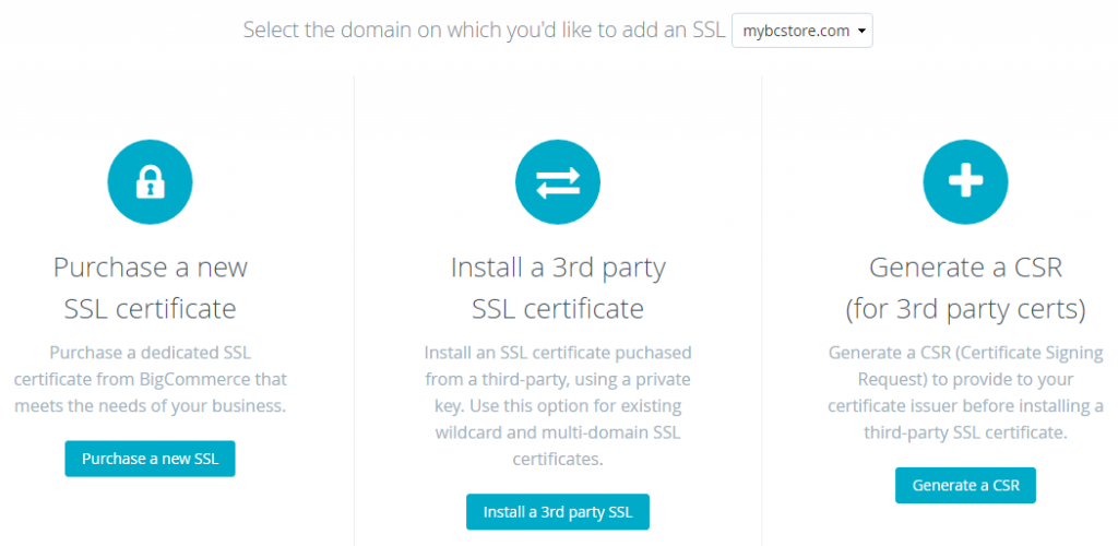 How to Install SSL/TLS Certificate on BigCommerce