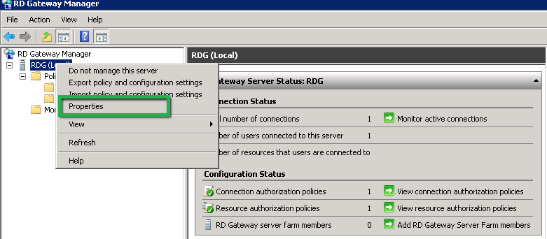 Remote Desktop Gateway Manager