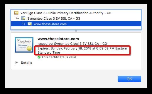 SSL Expire Date