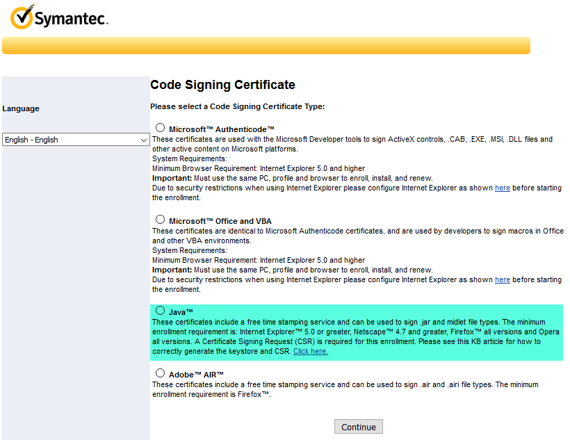 Symantec Code Signing Certificates Do Not Come With A Site Seal Because It Is Designed To Be Advertised Publically On Your Website