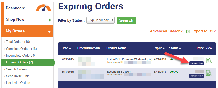 Expiring Orders