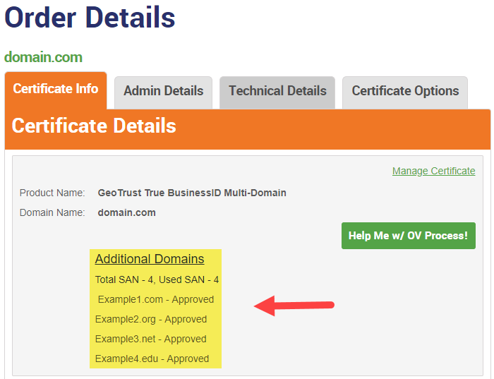 How To Add And Manage Sans Ssl Certificate The Ssl Store
