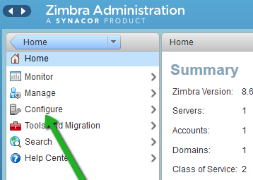 Zimbra Administration
