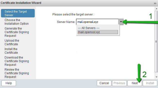 How To Install An Ssltls Certificate On Zimbra Mail Server