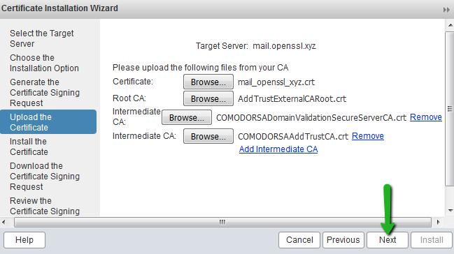 Upload SSL