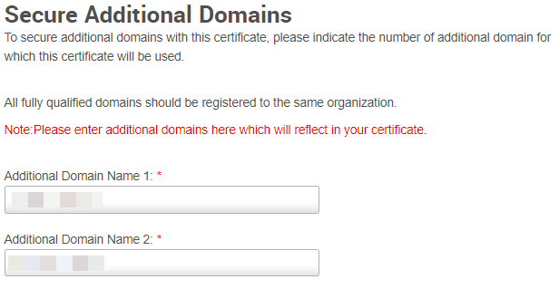 Secure Additional Domains