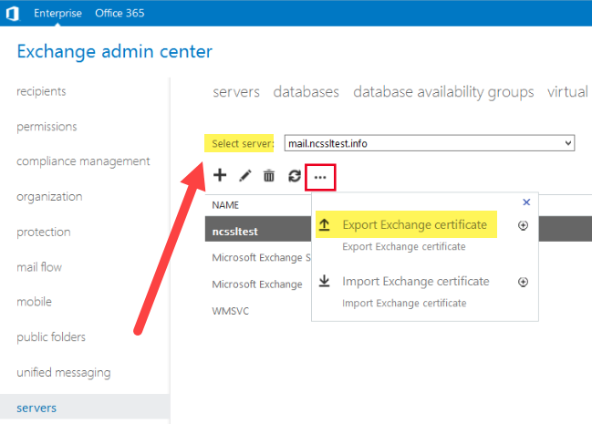Guide to Export/Import Certificate in Microsoft Exchange