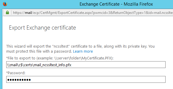 Guide to Export/Import Certificate in Microsoft Exchange 2013 EAC
