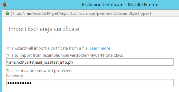 Import Exchange Certificate